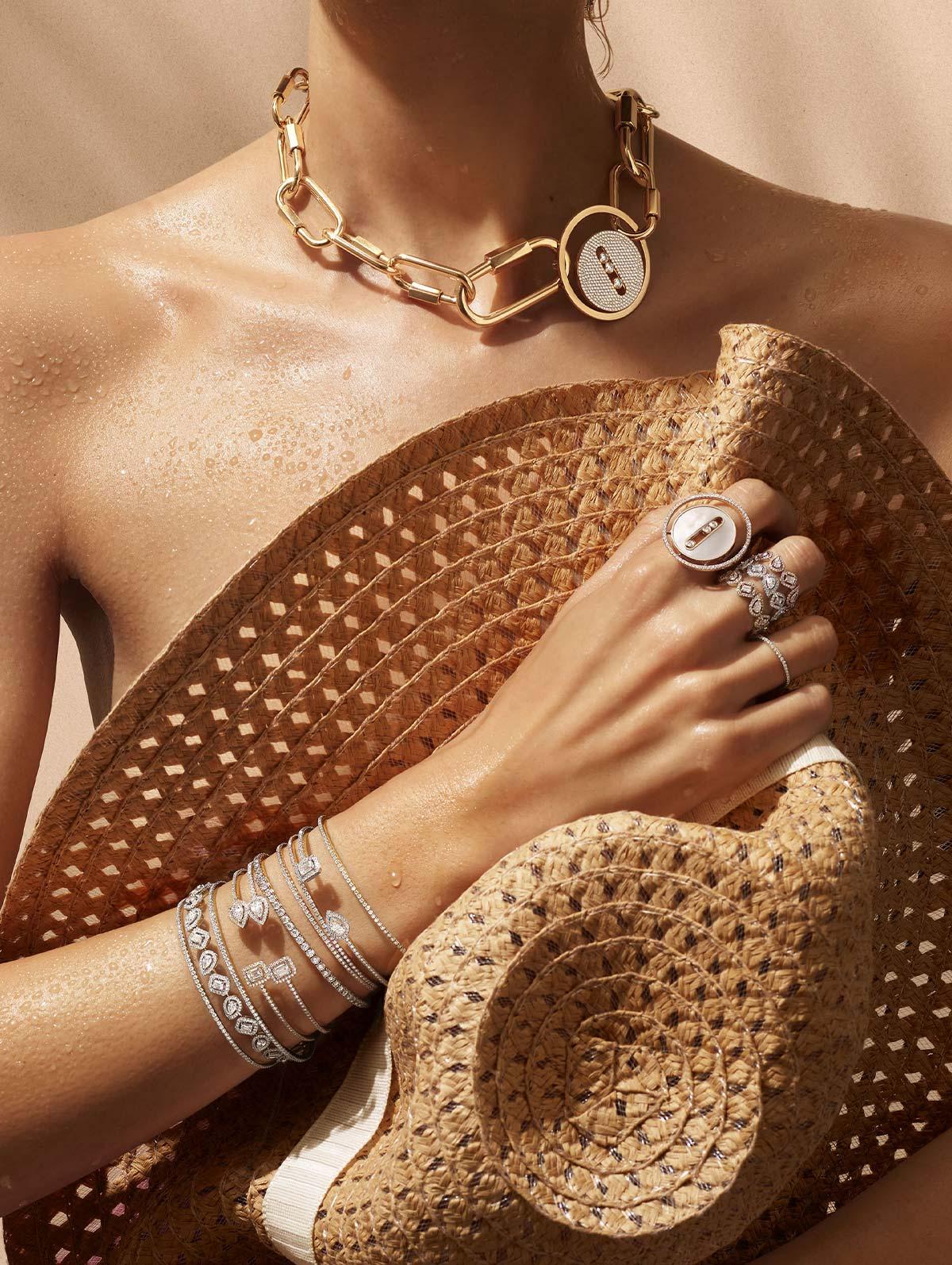 gold diamond jewels
