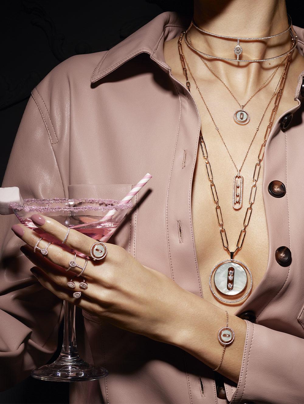 luxury diamond necklace for women