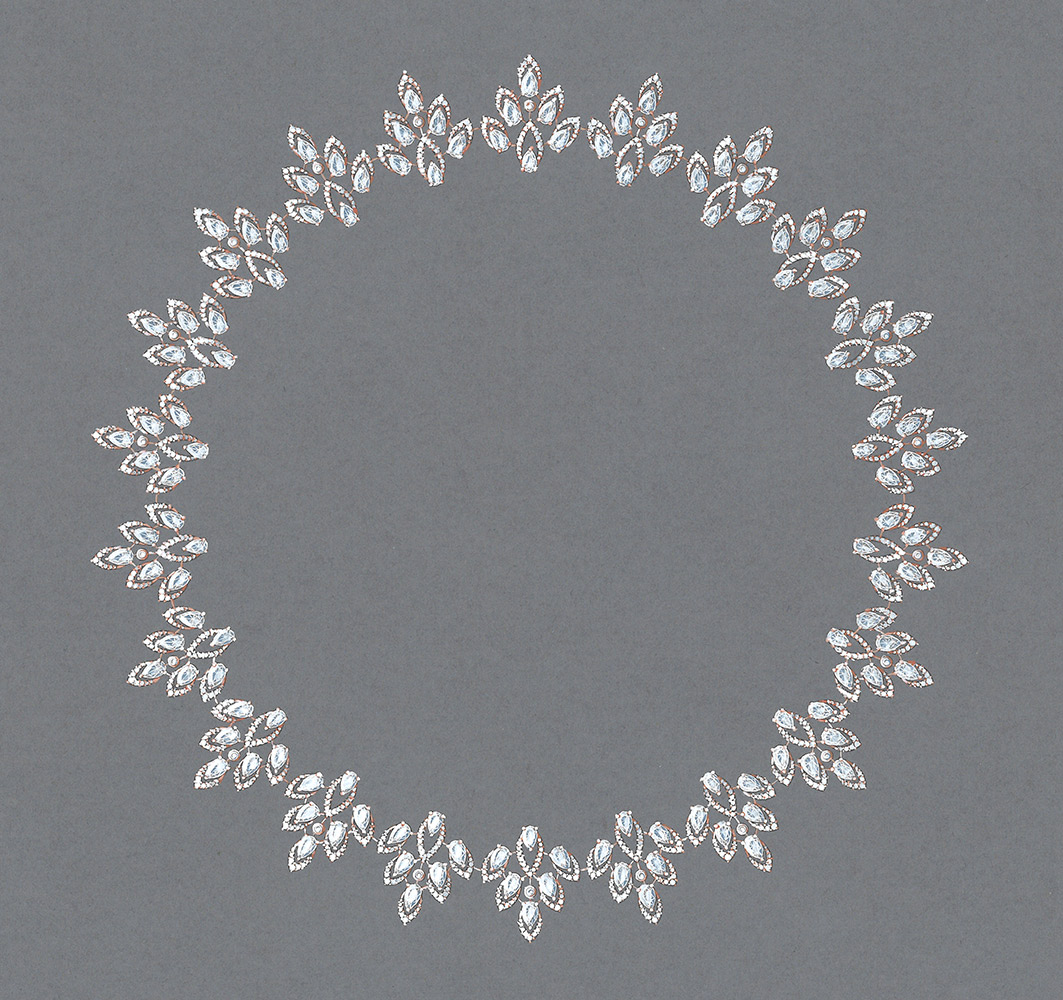 High jewelry diamond necklace Desert Bloom